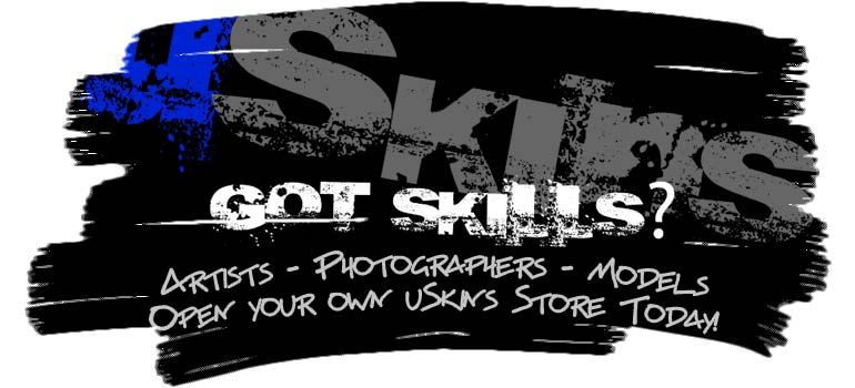Artists, photographiers and models get your uSkins store.
