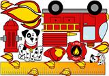Fire House Station - Kids Room Large Fabric Wall Decor