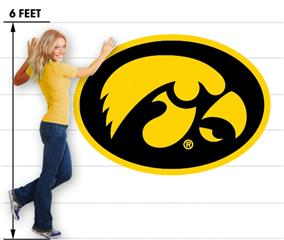Iowa Hawkeyes 12 Tigerhawk Oval 66x47 inch Huge Fabric Wall Skin