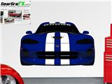 Dodge Viper Blue and White LIFE SIZE Wall Skin