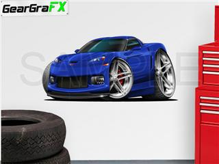 Corvette ZR1 2009 48 inch Blue Wall Skin Graphic