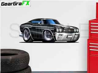 Chevelle SS 1970 48 inch Black Wall Skin
