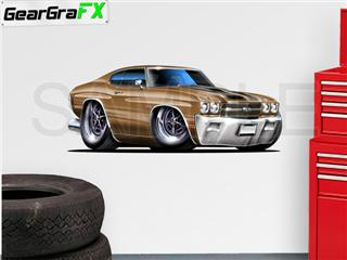 Chevelle SS 1970 48 inch Bronze Wall Skin