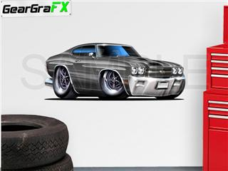Chevelle SS 1970 48 inch Gray Wall Skin