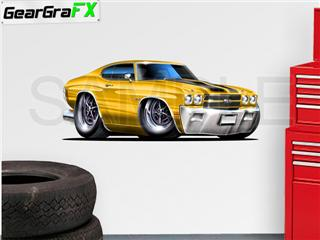 Chevelle SS 1970 48 inch Yellow Wall Skin