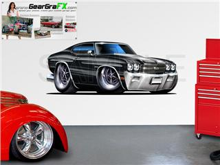 Chevelle SS 1970 84 inch Black Wall Skin