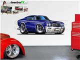 Chevelle SS 1970 84 inch Blue Wall Skin