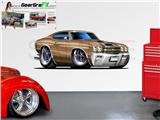 Chevelle SS 1970 84 inch Bronze Wall Skin