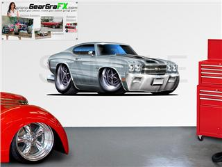 Chevelle SS 1970 84 inch Silver Wall Skin