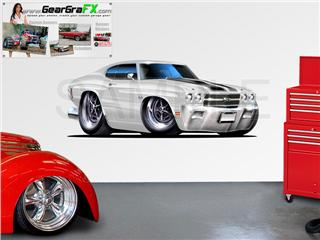 Chevelle SS 1970 84 inch White Wall Skin