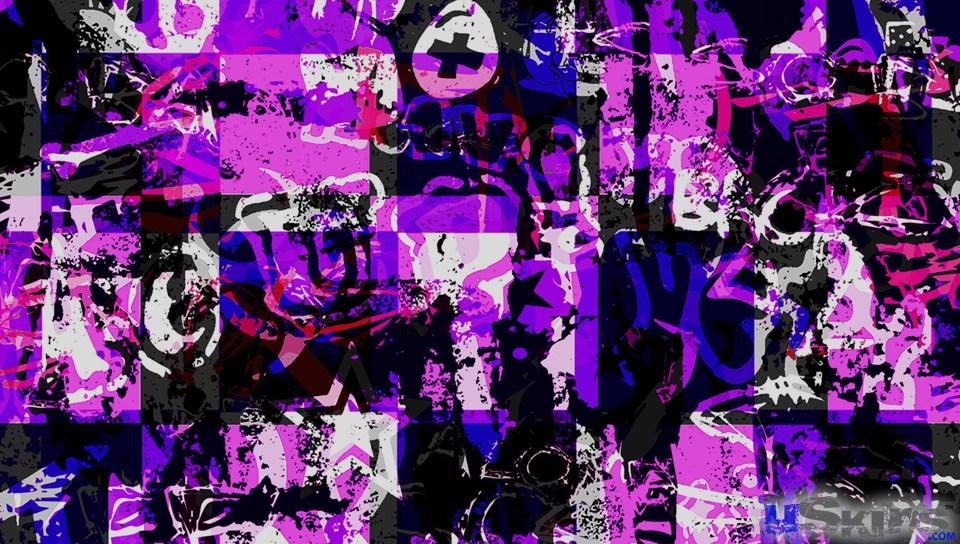 purple in graffiti