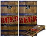 Cornhole ( Baggo ) Game Board Premium Laminated Vinyl Wrap Skin Kit - Beer Barrel 01 (fits 24x48 game boards - Gameboards NOT INCLUDED)