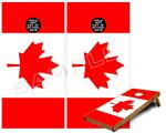 Cornhole ( Baggo ) Game Board Premium Laminated Vinyl Wrap Skin Kit - Canadian Canada Flag (fits 24x48 game boards - Gameboards NOT INCLUDED)