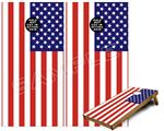 Cornhole ( Baggo ) Game Board Premium Laminated Vinyl Wrap Skin Kit - USA American Flag 01 (fits 24x48 game boards - Gameboards NOT INCLUDED)