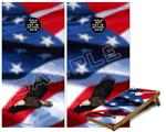 Cornhole ( Baggo ) Game Board Premium Laminated Vinyl Wrap Skin Kit - American USA Flag (Ole Glory) Bald Eagle (fits 24x48 game boards - Gameboards NOT INCLUDED)