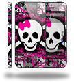 Splatter Girly Skull - Decal Style Vinyl Skin (fits Apple Original iPhone 5, NOT the iPhone 5C or 5S)