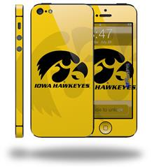 Iowa Hawkeyes Herkey Black on Gold - Decal Style Vinyl Skin (fits Apple Original iPhone 5, NOT the iPhone 5C or 5S)