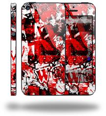 Red Graffiti - Decal Style Vinyl Skin (fits Apple Original iPhone 5, NOT the iPhone 5C or 5S)