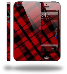 Red Plaid - Decal Style Vinyl Skin (fits Apple Original iPhone 5, NOT the iPhone 5C or 5S)
