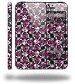 Splatter Girly Skull Pink - Decal Style Vinyl Skin (fits Apple Original iPhone 5, NOT the iPhone 5C or 5S)