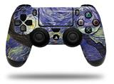 WraptorSkinz Skin compatible with Sony PS4 Dualshock Controller PlayStation 4 Original Slim and Pro Vincent Van Gogh Starry Night (CONTROLLER NOT INCLUDED)