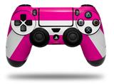 Vinyl Skin Wrap for Sony PS4 Dualshock Controller Psycho Stripes Hot Pink and White (CONTROLLER NOT INCLUDED)