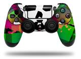 WraptorSkinz Skin compatible with Sony PS4 Dualshock Controller PlayStation 4 Original Slim and Pro Rainbow Plaid Skull (CONTROLLER NOT INCLUDED)
