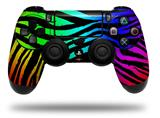 Vinyl Skin Wrap for Sony PS4 Dualshock Controller Rainbow Zebra (CONTROLLER NOT INCLUDED)