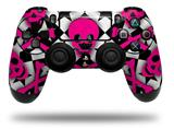 Vinyl Decal Skin Wrap compatible with Sony PlayStation 4 Dualshock Controller Pink Skulls and Stars (PS4 CONTROLLER NOT INCLUDED)
