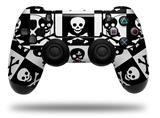 WraptorSkinz Skin compatible with Sony PS4 Dualshock Controller PlayStation 4 Original Slim and Pro Skull Checkerboard (CONTROLLER NOT INCLUDED)