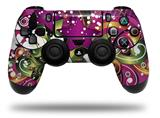 Vinyl Skin Wrap for Sony PS4 Dualshock Controller Grungy Flower Bouquet (CONTROLLER NOT INCLUDED)