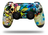 Vinyl Skin Wrap for Sony PS4 Dualshock Controller Floral Splash (CONTROLLER NOT INCLUDED)