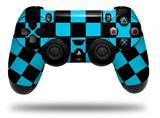 Vinyl Skin Wrap for Sony PS4 Dualshock Controller Checkers Blue (CONTROLLER NOT INCLUDED)