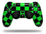 Vinyl Skin Wrap for Sony PS4 Dualshock Controller Checkers Green (CONTROLLER NOT INCLUDED)