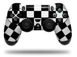 Vinyl Skin Wrap for Sony PS4 Dualshock Controller Checkers White (CONTROLLER NOT INCLUDED)