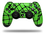 WraptorSkinz Skin compatible with Sony PS4 Dualshock Controller PlayStation 4 Original Slim and Pro Ripped Fishnets Green (CONTROLLER NOT INCLUDED)
