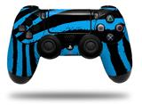 Vinyl Skin Wrap for Sony PS4 Dualshock Controller Zebra Blue (CONTROLLER NOT INCLUDED)