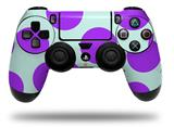 Vinyl Skin Wrap for Sony PS4 Dualshock Controller Kearas Polka Dots Purple And Blue (CONTROLLER NOT INCLUDED)