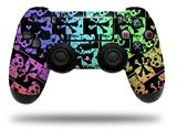 Vinyl Skin Wrap for Sony PS4 Dualshock Controller Skull Checker Rainbow (CONTROLLER NOT INCLUDED)