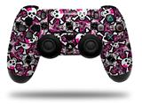 Vinyl Skin Wrap for Sony PS4 Dualshock Controller Splatter Girly Skull Pink (CONTROLLER NOT INCLUDED)