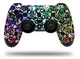 WraptorSkinz Skin compatible with Sony PS4 Dualshock Controller PlayStation 4 Original Slim and Pro Splatter Girly Skull Rainbow (CONTROLLER NOT INCLUDED)