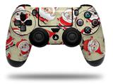 Vinyl Skin Wrap for Sony PS4 Dualshock Controller Lots of Santas (CONTROLLER NOT INCLUDED)