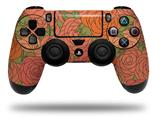 Vinyl Skin Wrap for Sony PS4 Dualshock Controller Flowers Pattern Roses 06 (CONTROLLER NOT INCLUDED)
