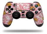 Vinyl Skin Wrap for Sony PS4 Dualshock Controller Flowers Pattern 12 (CONTROLLER NOT INCLUDED)