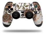 Vinyl Skin Wrap for Sony PS4 Dualshock Controller Flowers Pattern Roses 20 (CONTROLLER NOT INCLUDED)