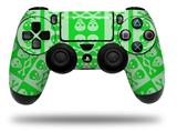 WraptorSkinz Skin compatible with Sony PS4 Dualshock Controller PlayStation 4 Original Slim and Pro Skull And Crossbones Pattern Green (CONTROLLER NOT INCLUDED)
