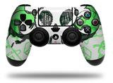 Vinyl Skin Wrap for Sony PS4 Dualshock Controller Cartoon Skull Green (CONTROLLER NOT INCLUDED)