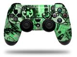 WraptorSkinz Skin compatible with Sony PS4 Dualshock Controller PlayStation 4 Original Slim and Pro Scene Kid Sketches Green (CONTROLLER NOT INCLUDED)
