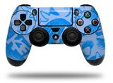 Vinyl Skin Wrap for Sony PS4 Dualshock Controller Skull Sketches Blue (CONTROLLER NOT INCLUDED)