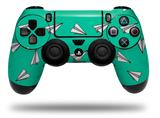 Vinyl Skin Wrap for Sony PS4 Dualshock Controller Paper Planes Turquoise (CONTROLLER NOT INCLUDED)